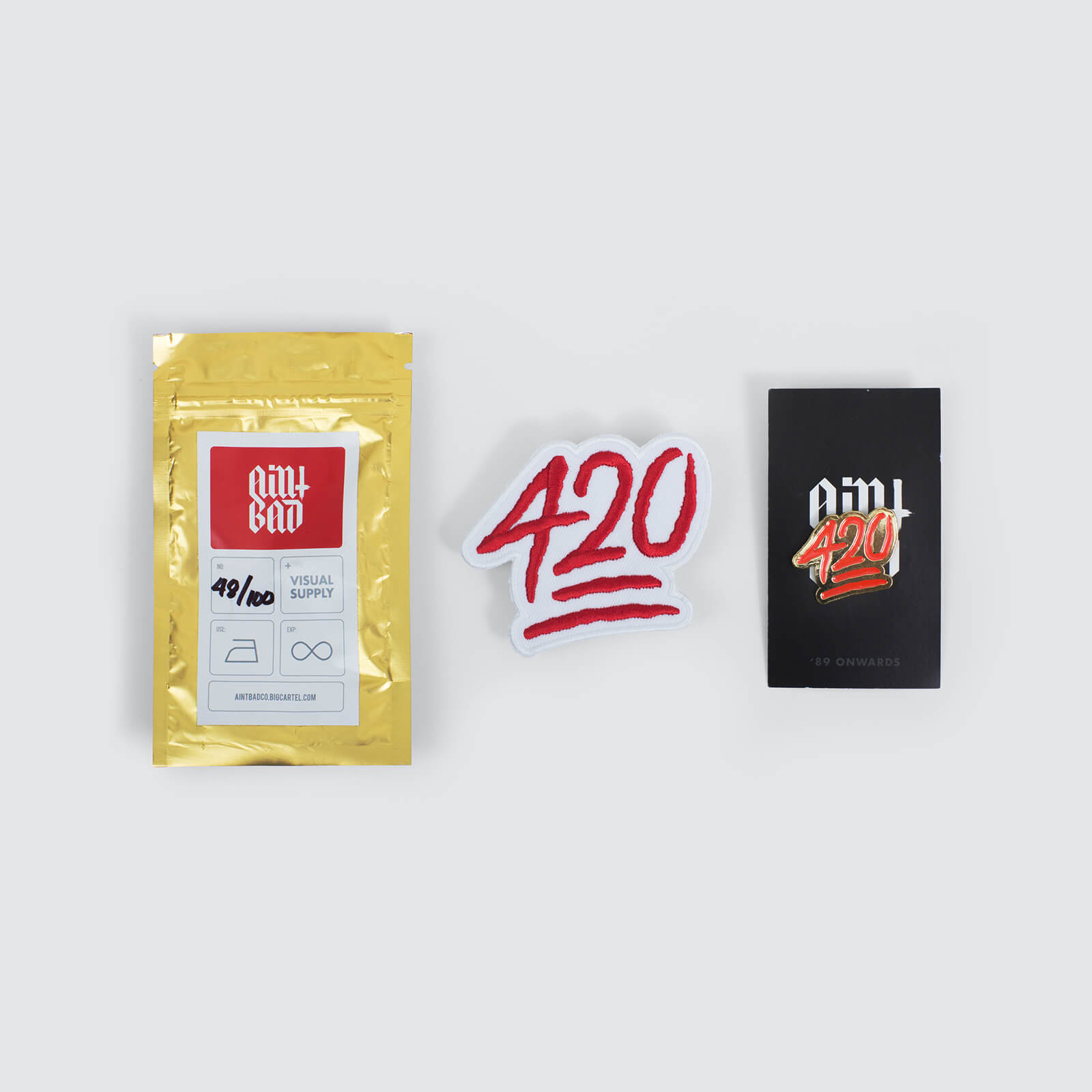 420 – Sticker Patch & Pin