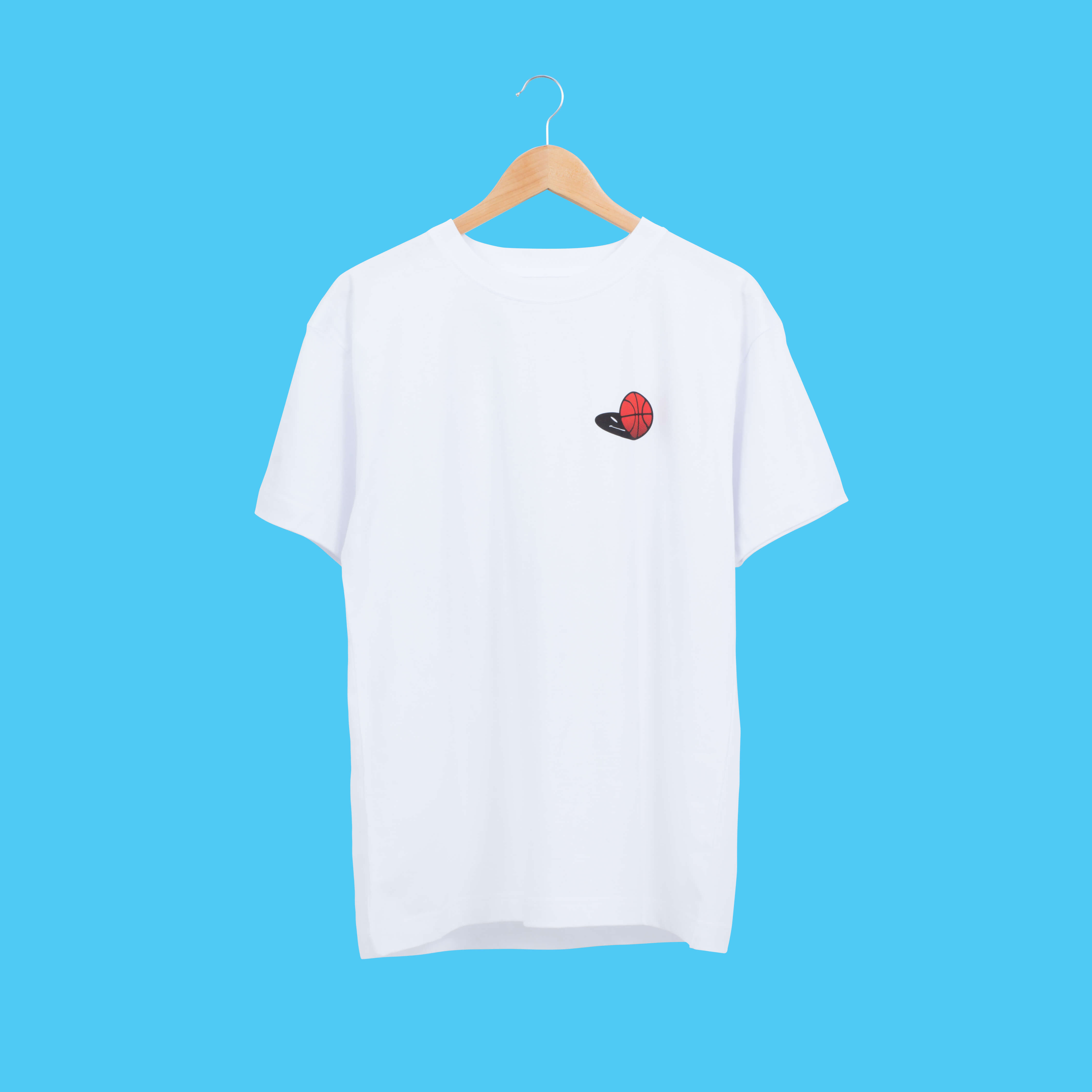 BASKET BALL Tee (White)
