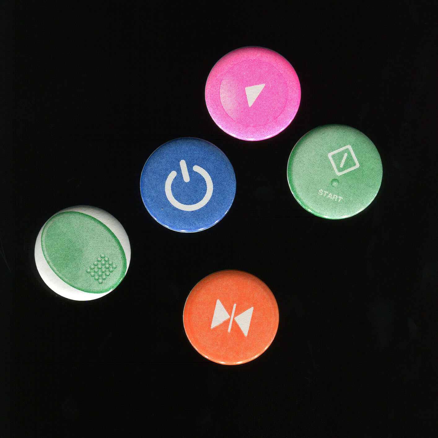 Risograph Pin Button (Button Button)